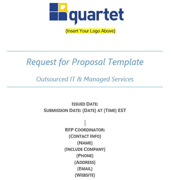 IT Services RFP Templates