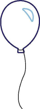 dark blue baloon